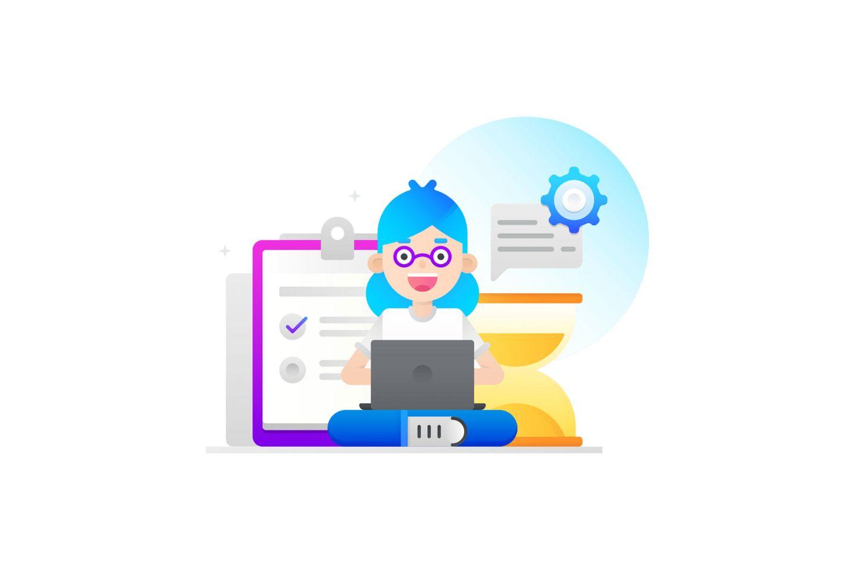 image of freelancer work space