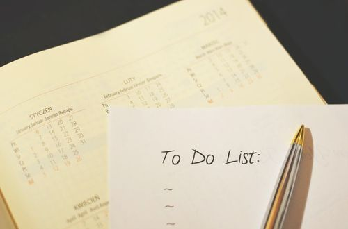 To-do list as a way to plan and track action items