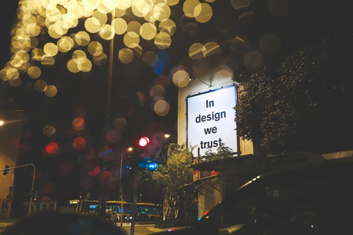 sign indicating web design