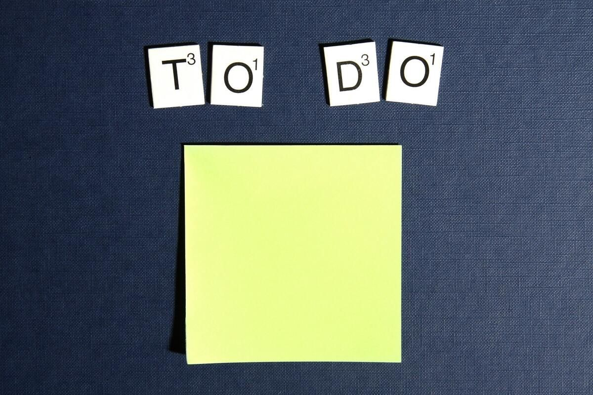 Sticky note for to-do list or action item list