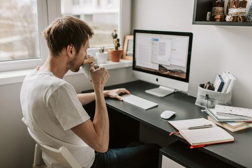 Freelancer Male Using Project Management Tool