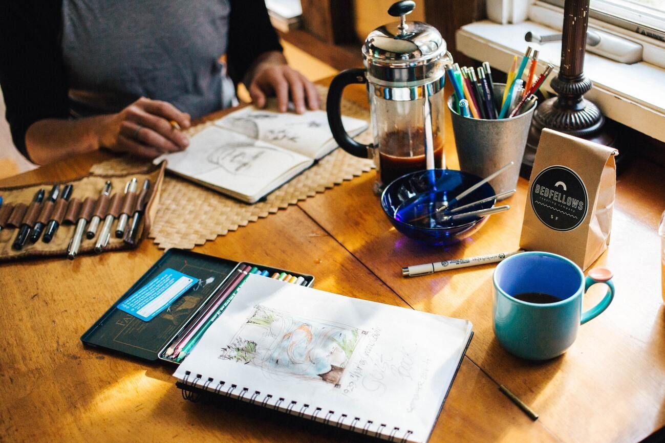 A creative professional problem solves user experiences
