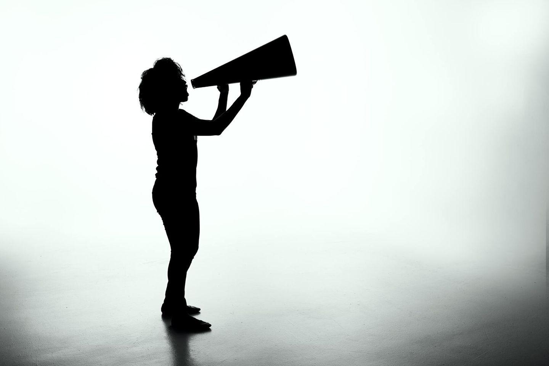 Freelancer promoting her PR business