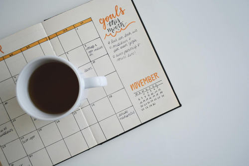 Staying organized with a calendar visual of your projects can help you stay productive.