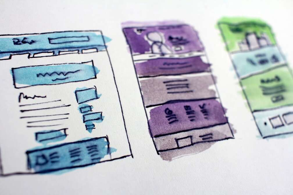 freelancer building a website