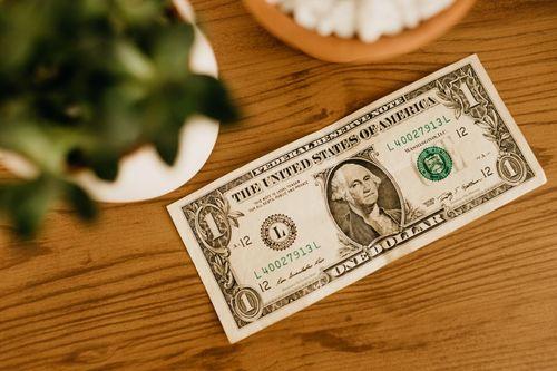 dollar bill symbolizing freelancer getting paid