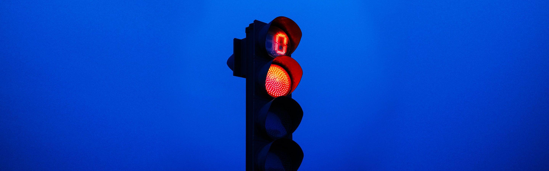 Red stoplight.