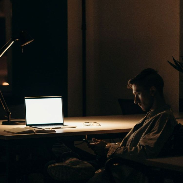 image of freelance work in front of laptop