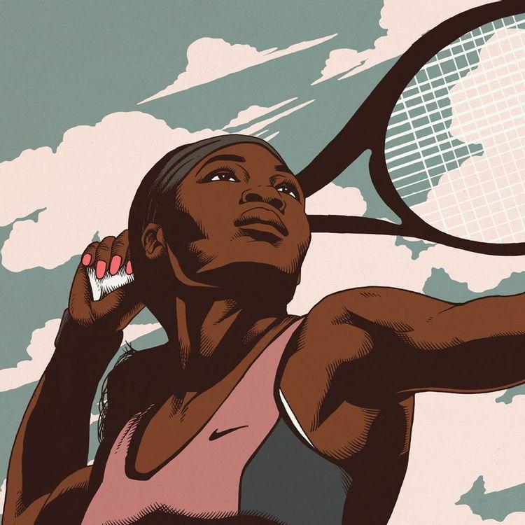 Serena Williams drawing by Arturo Torres