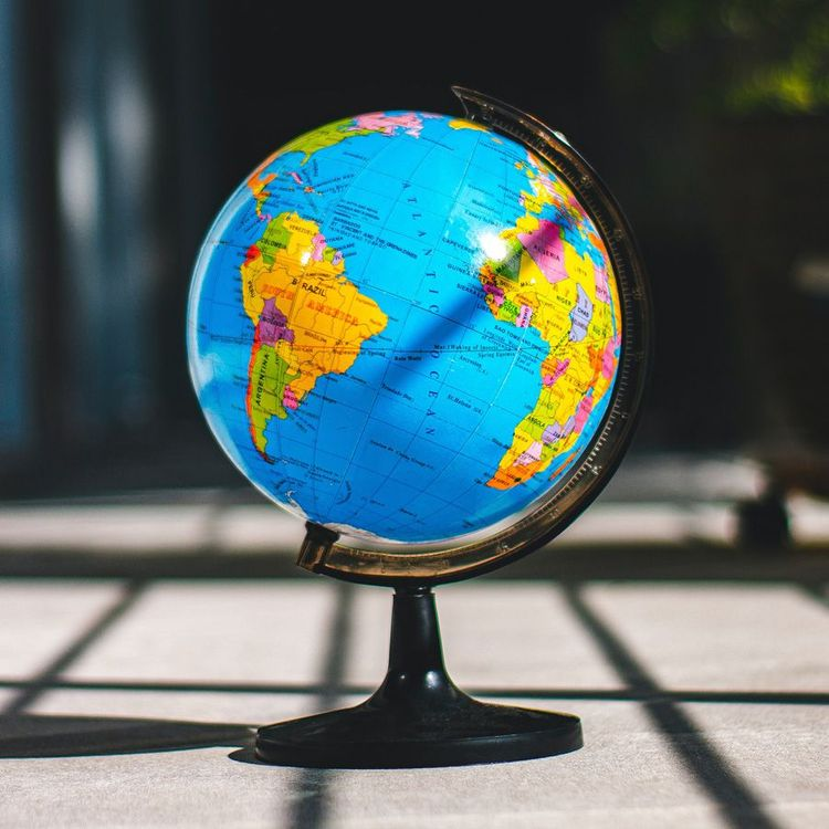 A globe that signifies the changing business and the acceptance of remote teams from all over the world