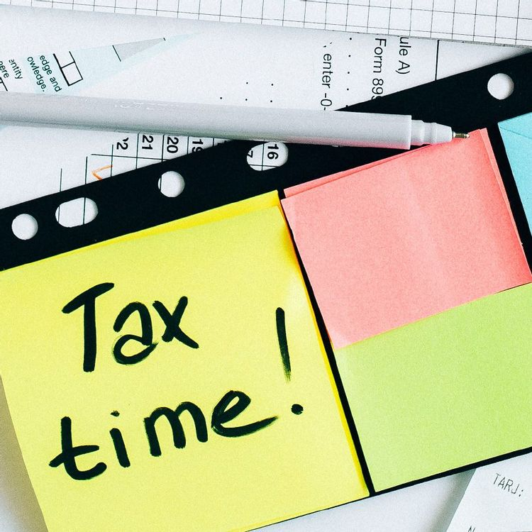 Tax time on post it notes