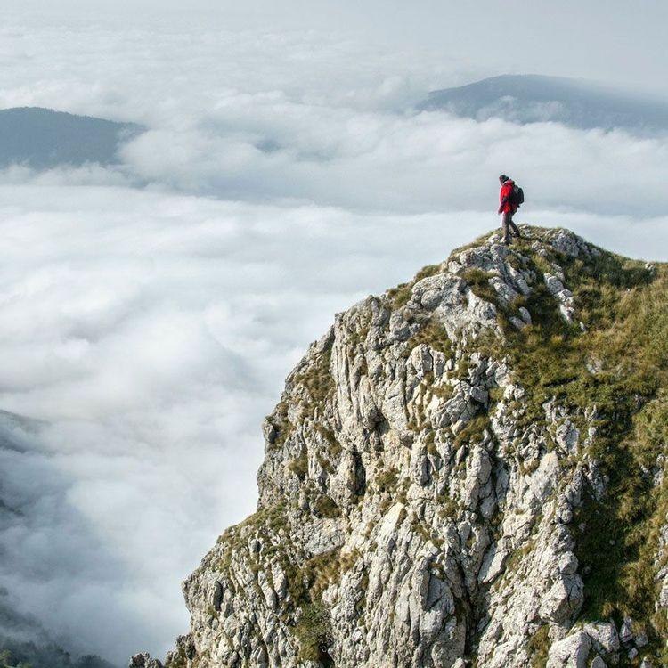 freelancer alone on a rock