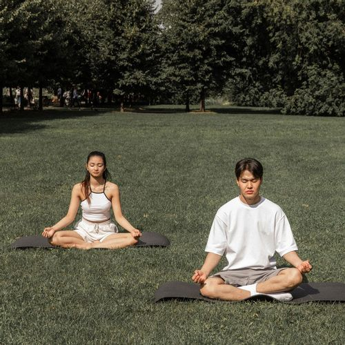 freelancers practicing mindfulness to boost productivity