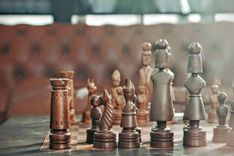 chess pieces representing creating strategy with swot